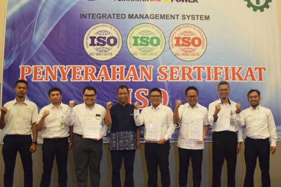 Penyerahan Sertifikat ISO PT Perta Daya Gas
