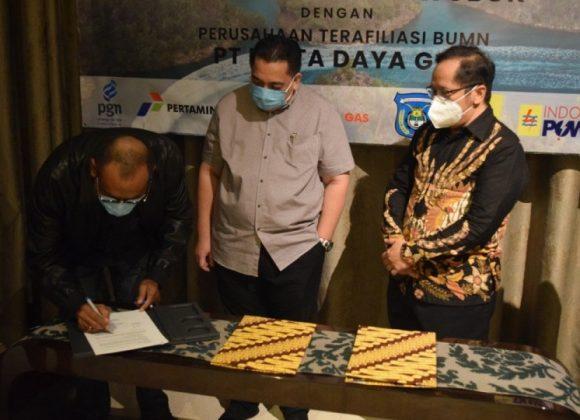 Perta Daya Gas Gandeng BUMD Sorong Malamoi Olom Wobok Bangun Pipa Gas untuk PLTMG