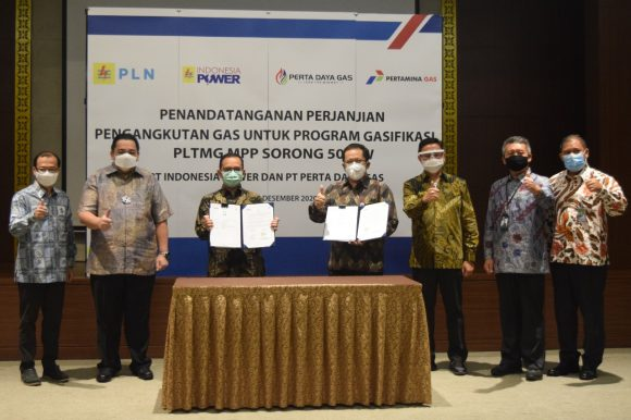 Perta Daya Gas dan Indonesia Power Sepakati Perjanjian Pengangkutan Gas Untuk Memenuhi Kebutuhan Gas PLTMG MPP Sorong 50 MW